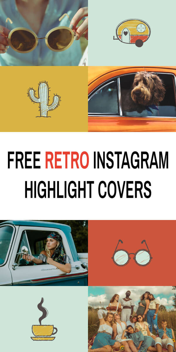 Free Retro Instagram Highlight Covers
