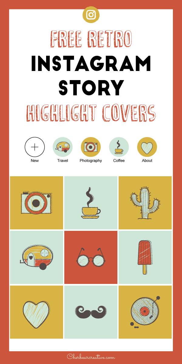 Free Retro Instagram Story Highlight Cover Icons