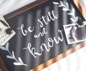 Rustic Chalkboard for Instagram