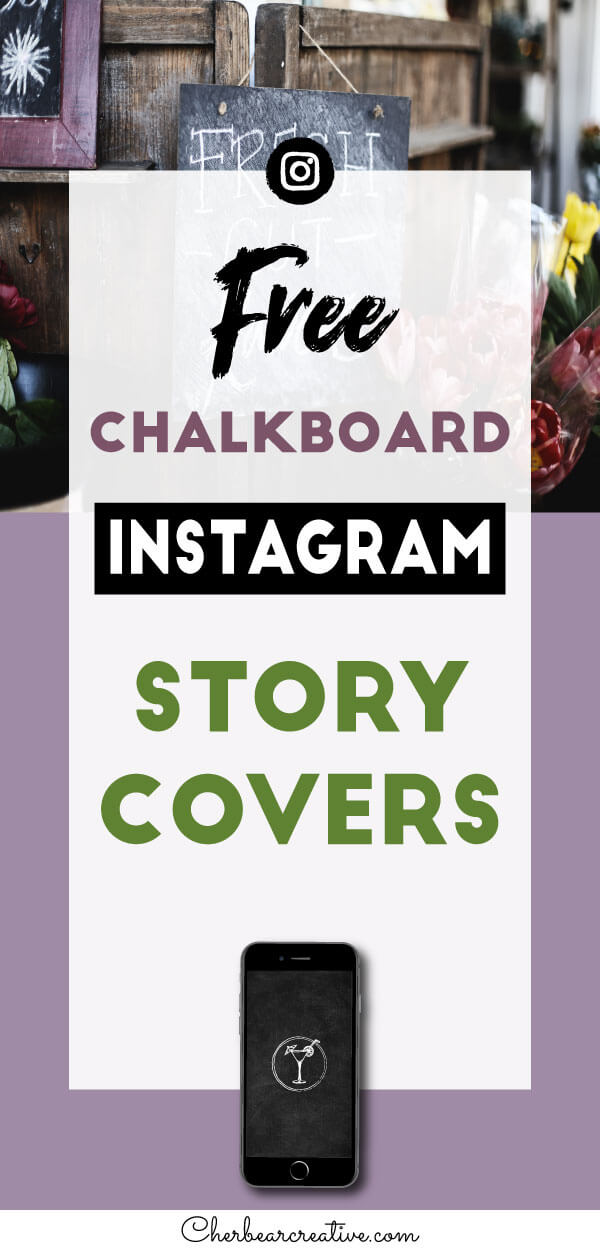 Free Chalkboard Instagram Story Highlight Cover Icons