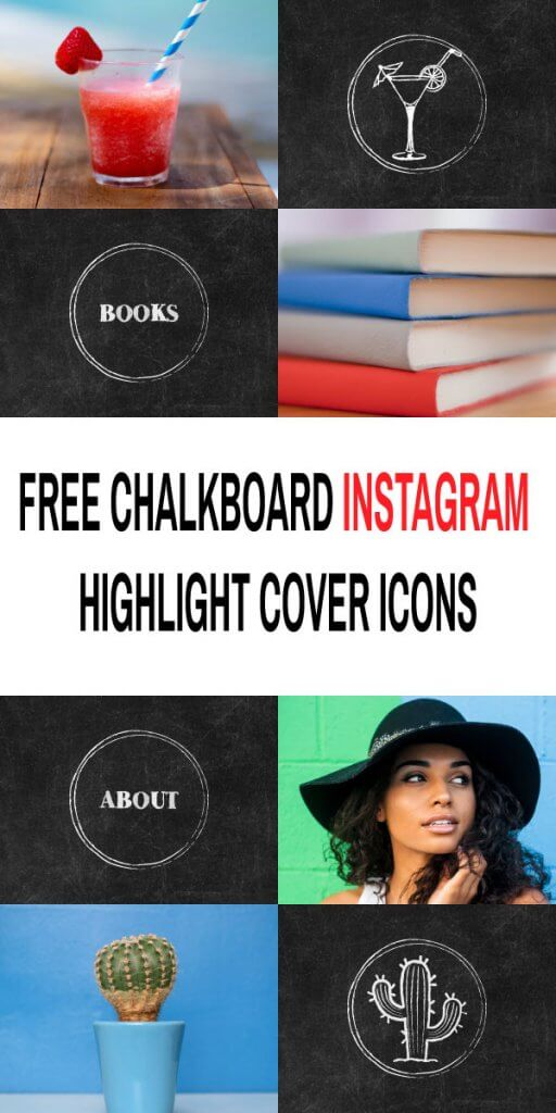 Free Chalkboard Instagram Highlight Cover Icons