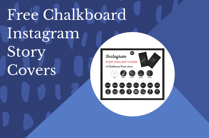 Free Chalkboard Instagram Story Highlight Icons