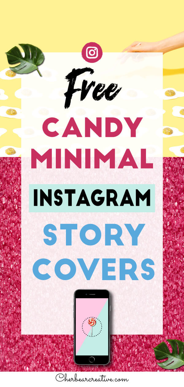 Free Candy Minimal Instagram Story Highlight Cover Icons