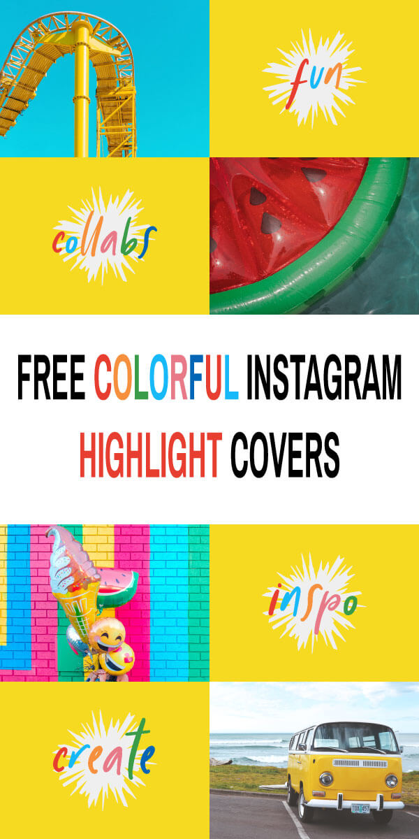 Free Colorful Instagram Story Highlight Covers