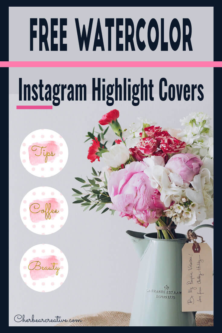 Free Pink Watercolor Instagram Highlight Covers