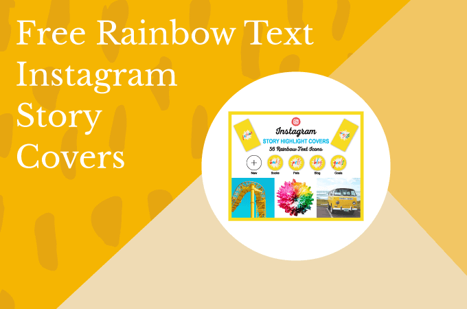 Free Bright Yellow and Rainbow Instagram Story Highlight Cover Icons