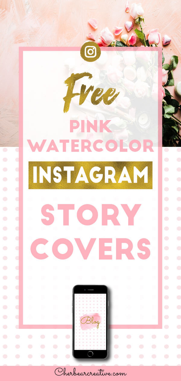 Free Pink Watercolor Instagram Story Highlight Covers