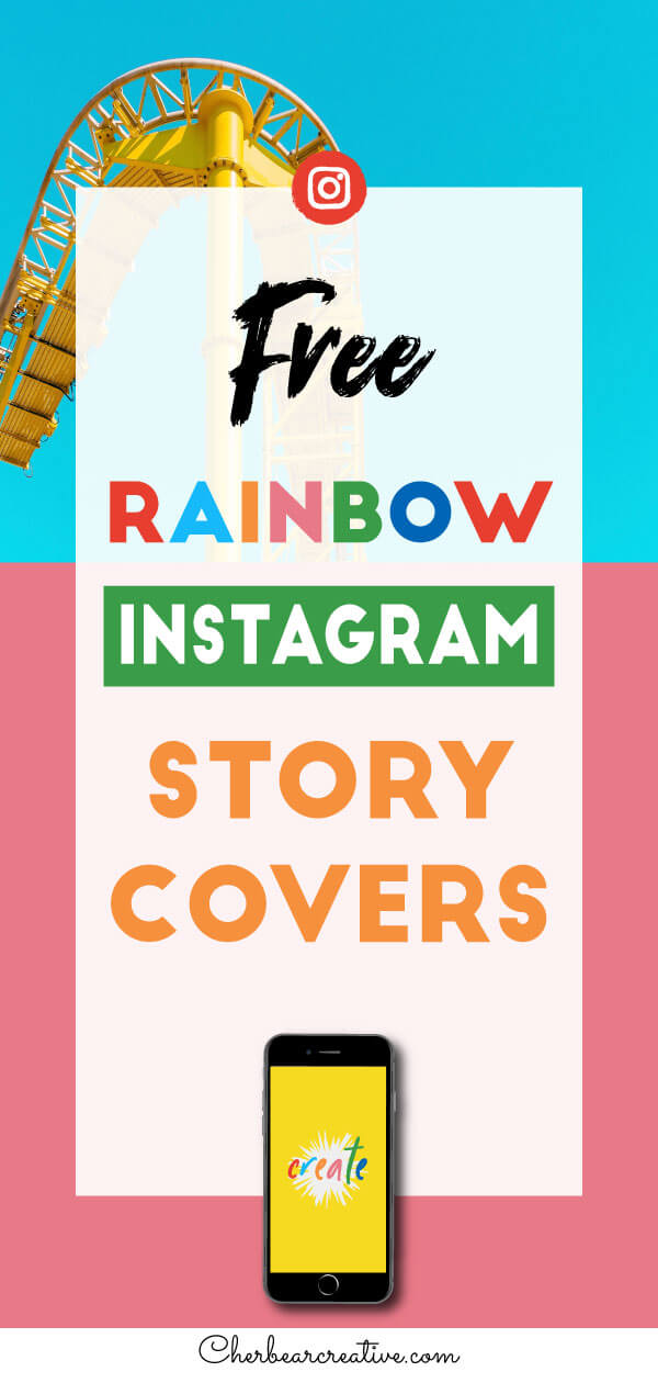 Free Yellow and Rainbow Instagram Story Highlight Cover Icons