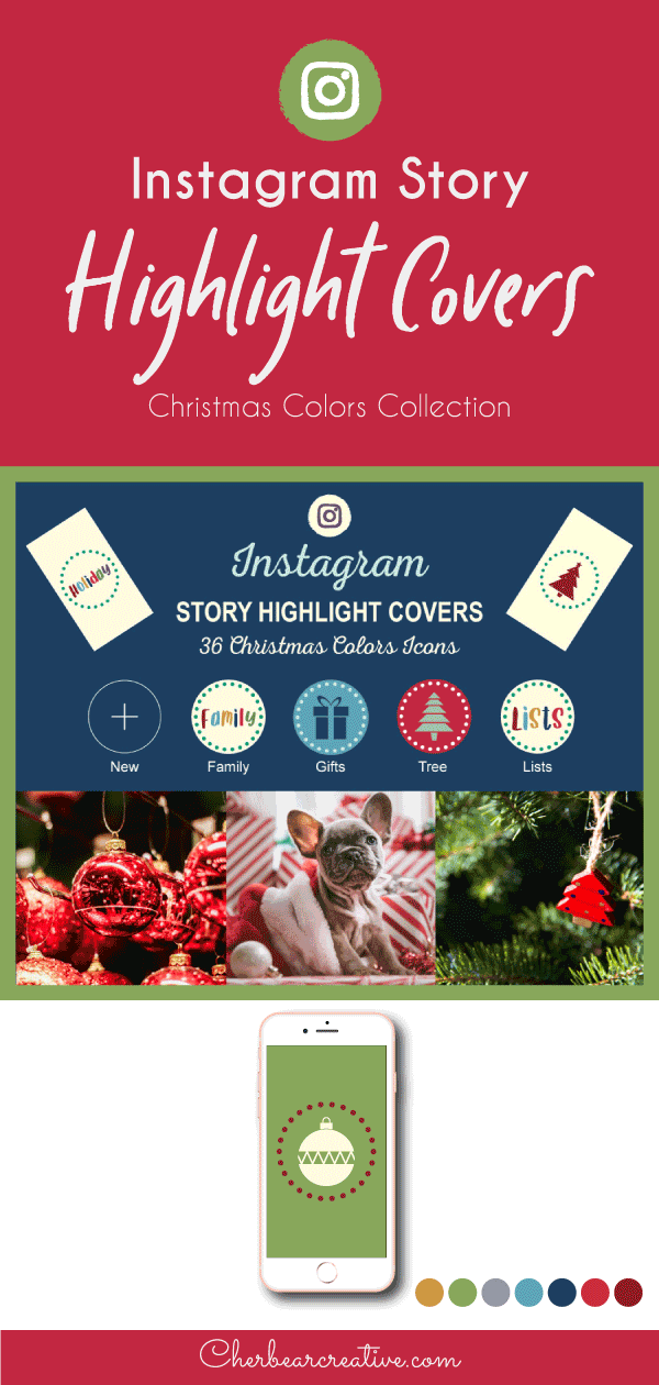 Christmas Colors Instagram Story Highlight Cover Icons