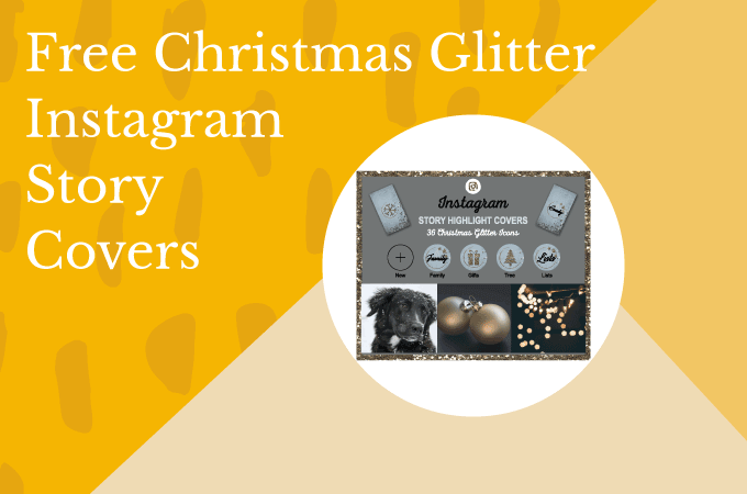 Free Christmas Glitter Instagram Story Highlight Covers