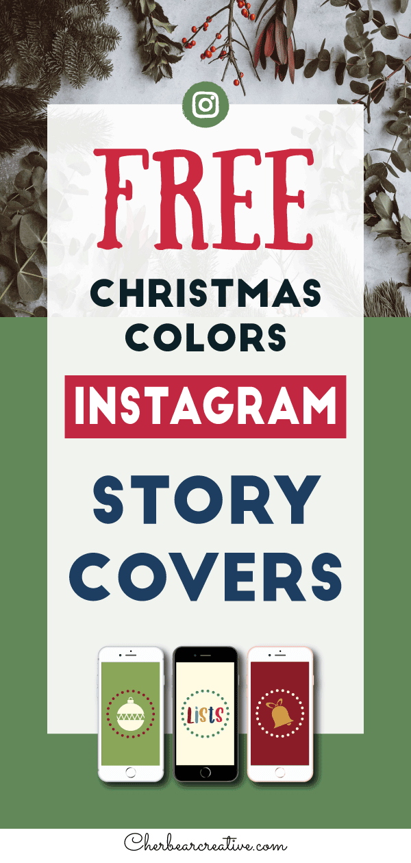 Free Christmas Colors Instagram Story Highlight Covers