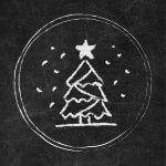 Free Chalkboard Instagram Story Highlight Covers - Christmas Tree