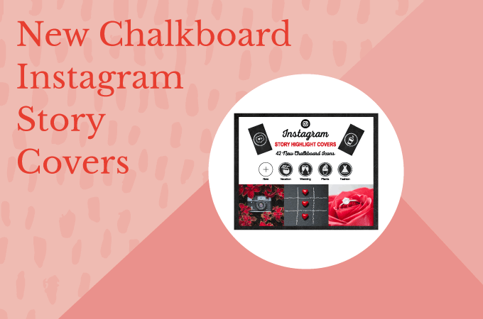 Free Chalkboard Instagram Story Highlight Covers