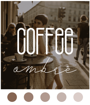Coffee Ombre Color Scheme Image