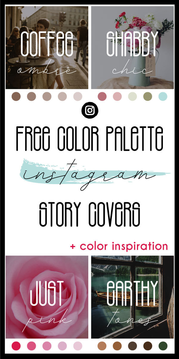 Free Color Palette Instagram Story Covers