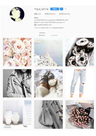 Instagram Neutral Color Palette Example2