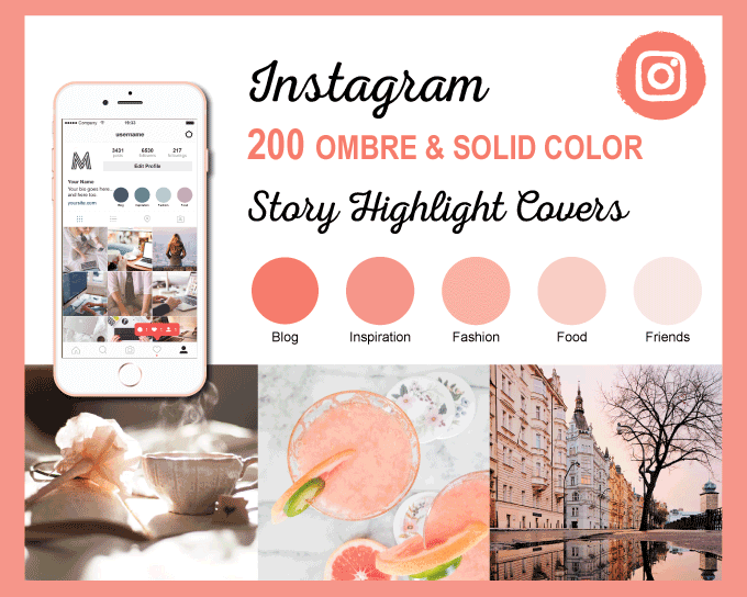 Ombre Color Scheme Instagram Story Highlight Covers