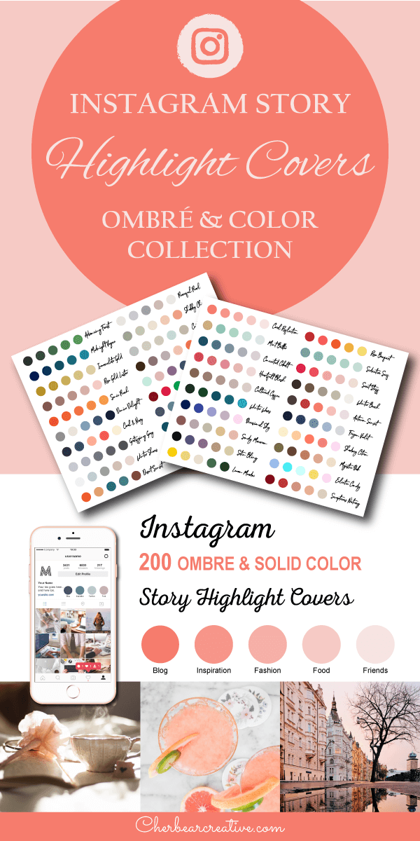 Ombre and Color Scheme Instagram Story Highlight Covers