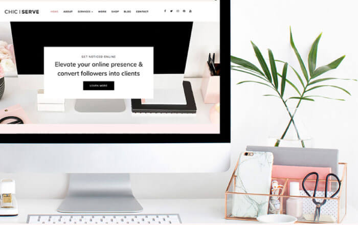 Feminine WordPress Theme - ChicServe