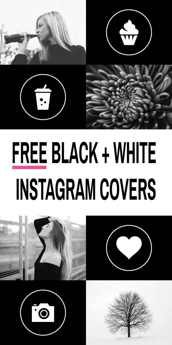 Free Black and White Instagram Highlight Cover Icons