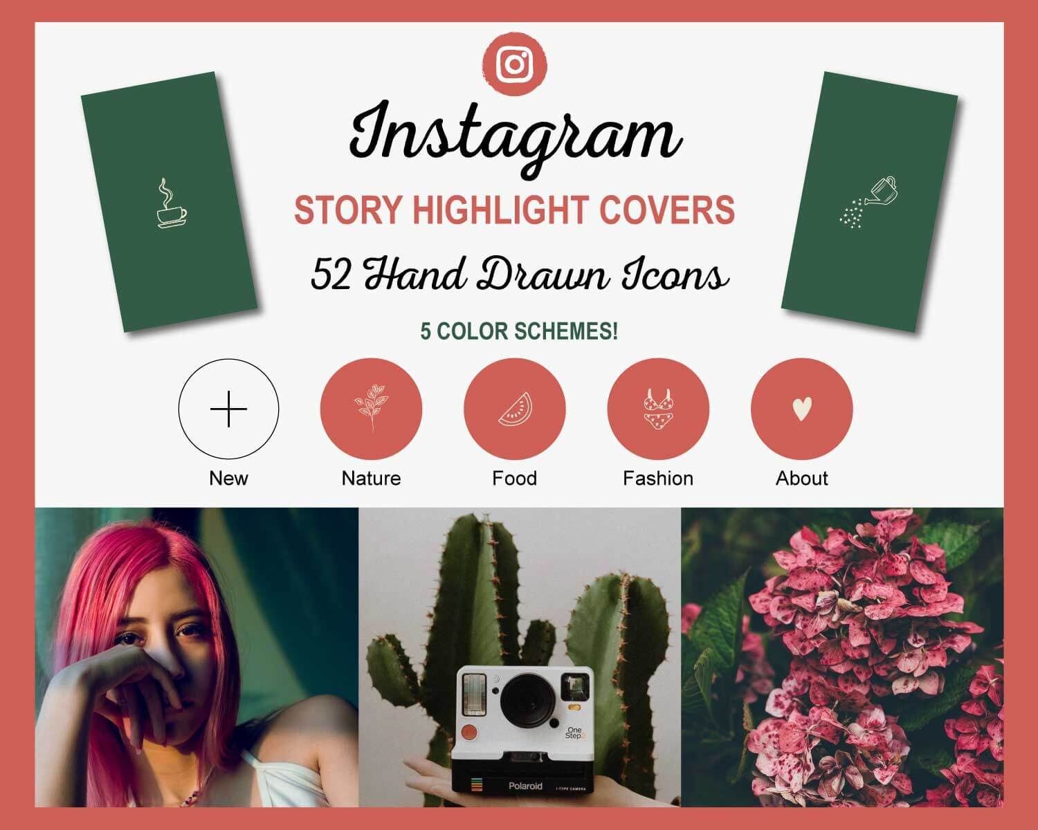 Hand Drawn Instagram Story Highlight Cover Icons