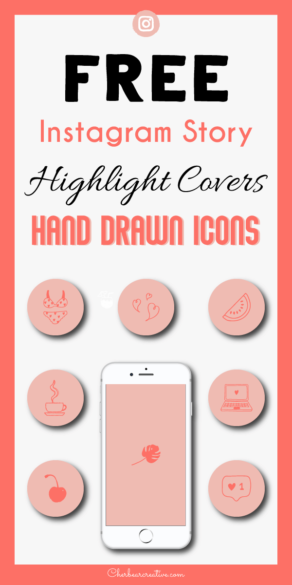 Free Hand Drawn Instagram Story Highlight Covers