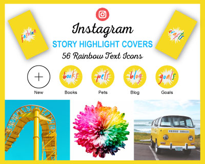 Rainbow Instagram Highlight Covers