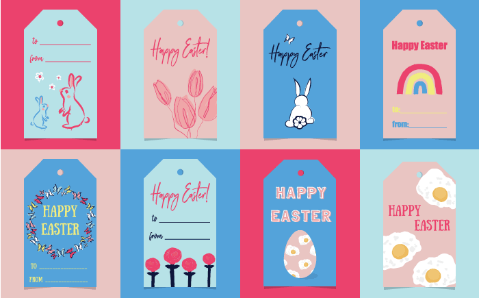 This is a photo of Free Printable Easter Tags intended for tag print free