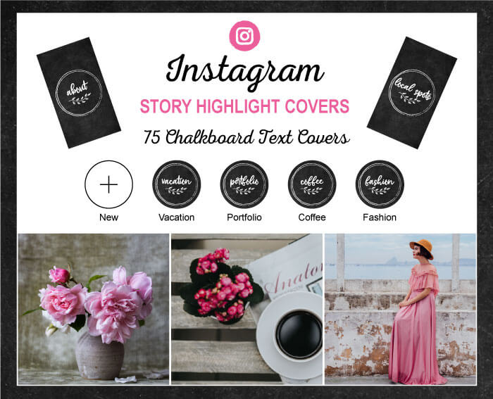 Chalkboard Instagram Highlight Covers