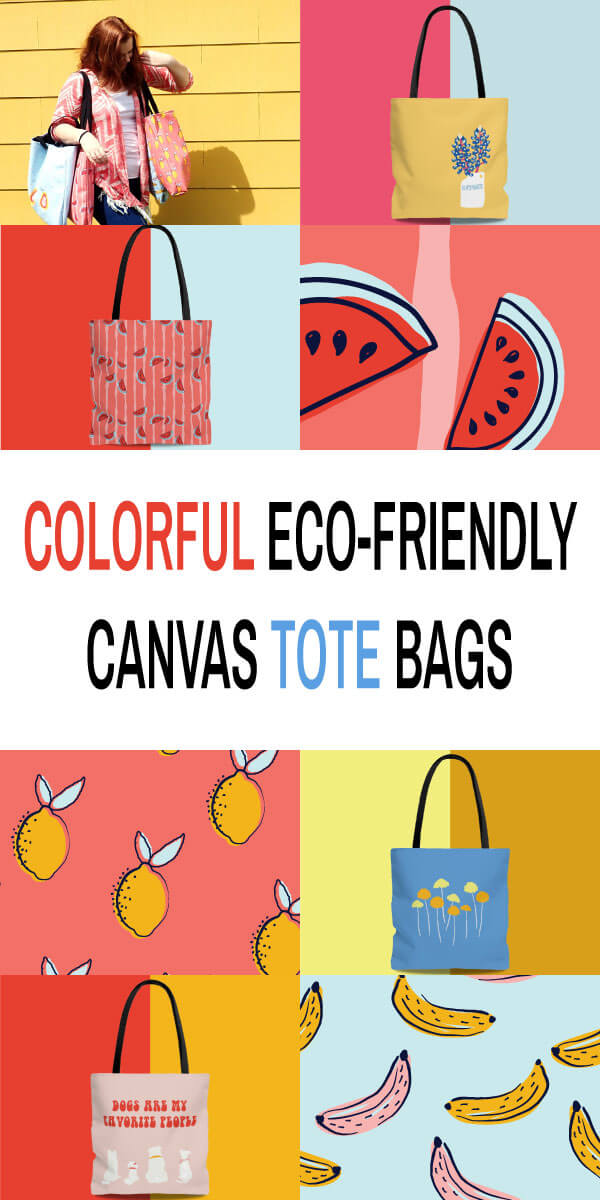 Colorful Eco Friendly Canvas Tote Bags