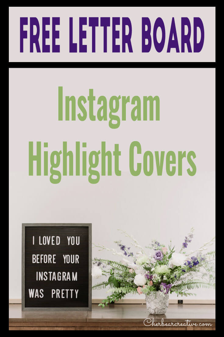 Free Letter Board Instagram Highlight Covers