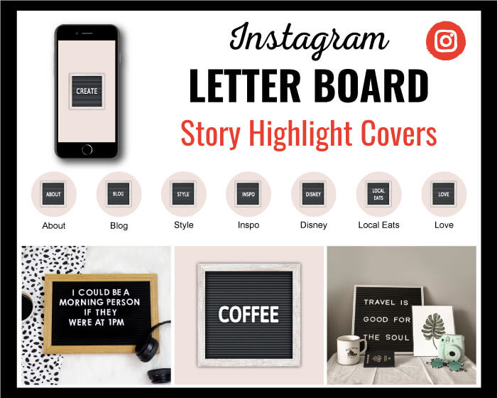 Letter Board Instagram Highlight Covers