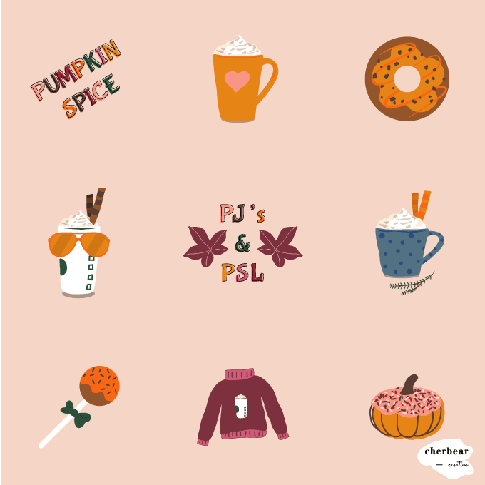 Free Pumpkin Spice Instagram Graphics