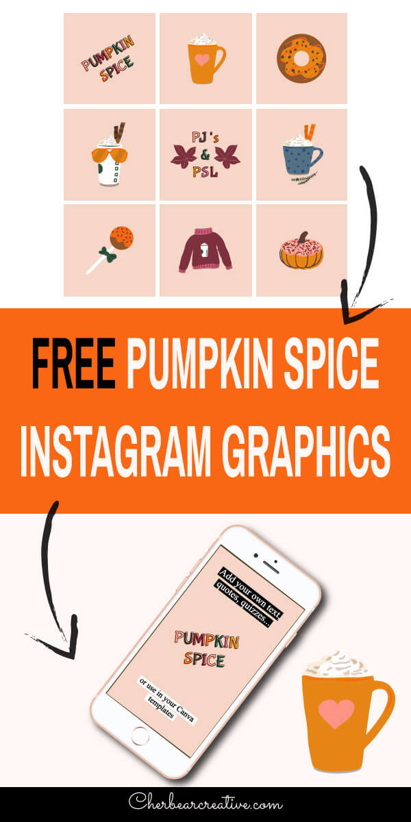 Free Pumpkin Spice Instagram Graphics - Social Media Posts and Stories