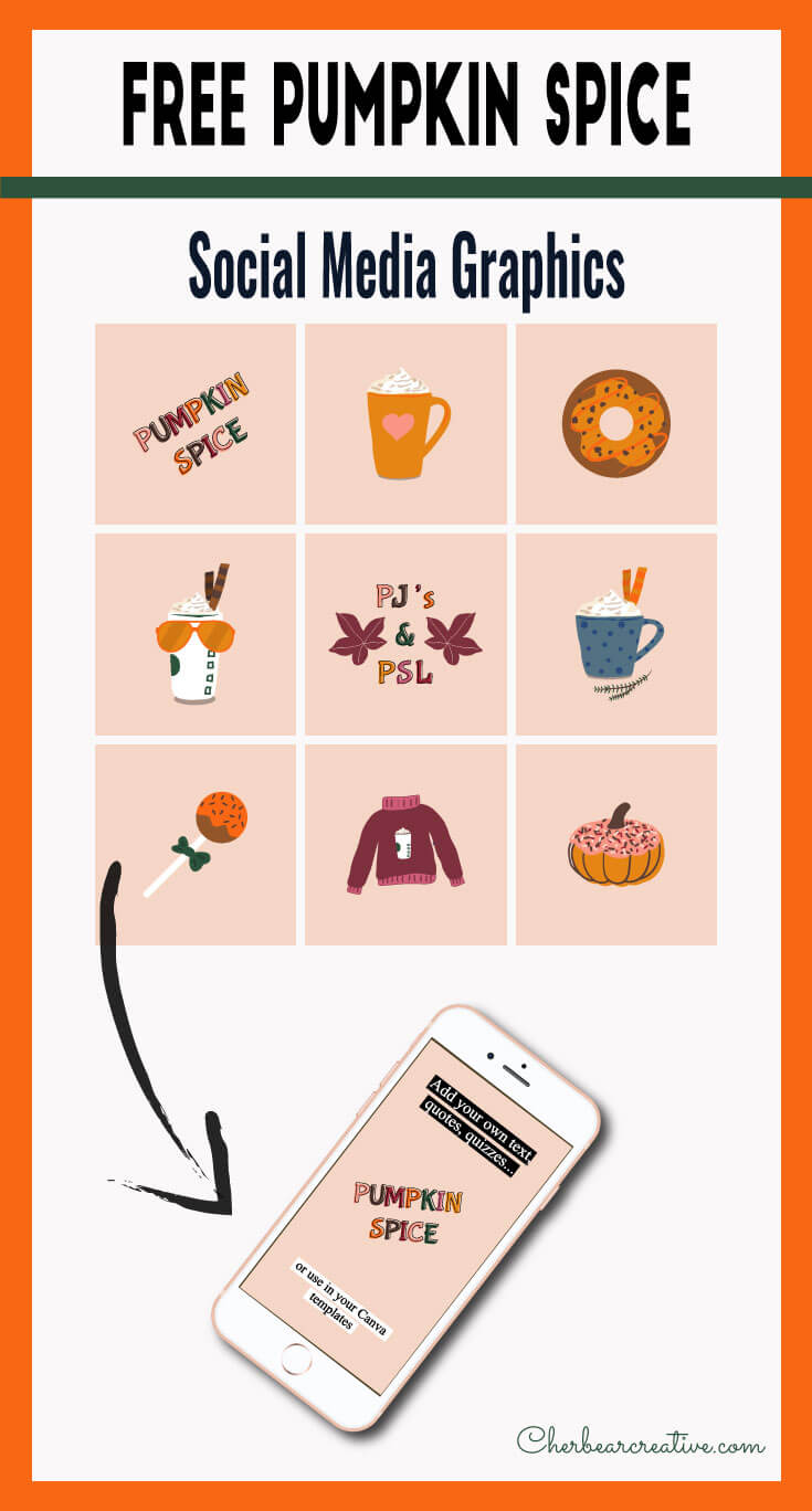 Free Pumpkin Spice Social Media Graphics