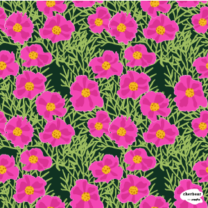 Pink Cosmos Floral surface pattern design