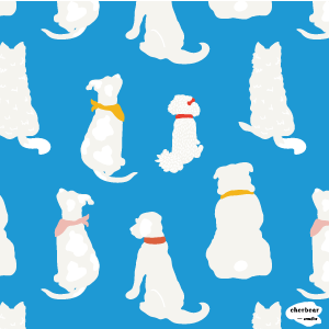 Cute Dog Bums surface pattern design