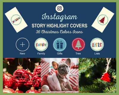 Free Christmas Colors Instagram Story Covers
