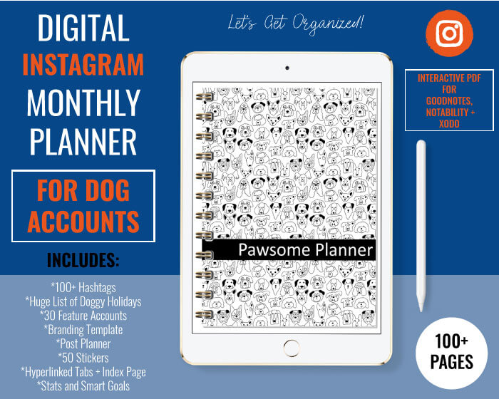 Digital Planner for Instagram Dog Accounts