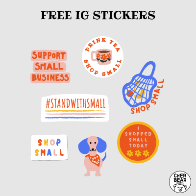 Support Small Business - Free Instagram Stickers And Etsy Picks