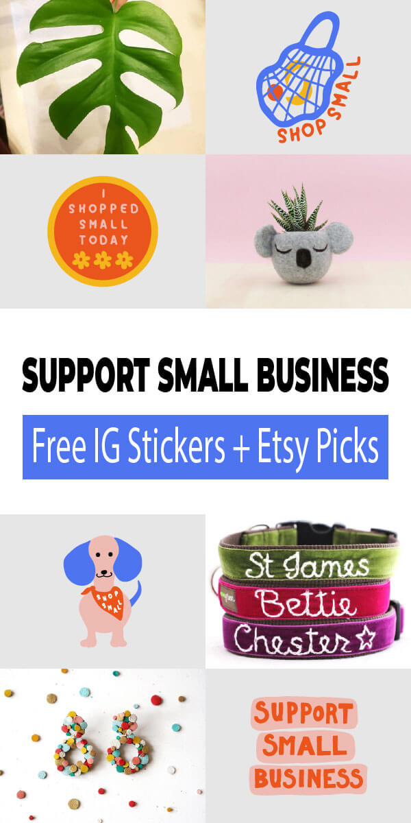 Free Instagram Stickers and Etsy Picks