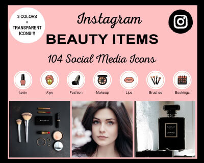 Beauty Items Instagram Highlight Icons