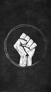 Free Raised Fist Chalkboard Icon