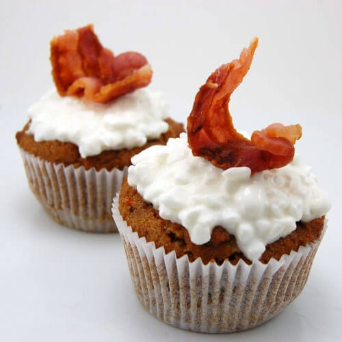 Bacon topped Pupcake