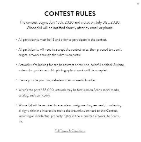 Example Contest Rules