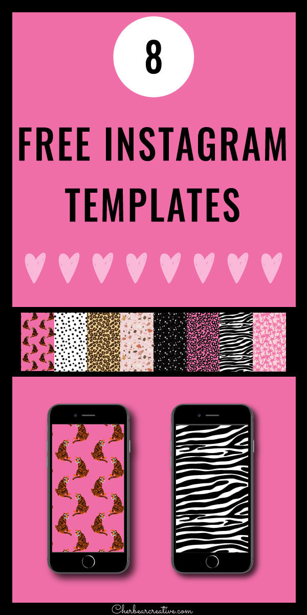 8 Free Instagram Templates - Cute Pattern Collection