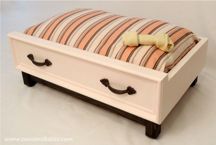 Upcycled Drawer Dog Bed