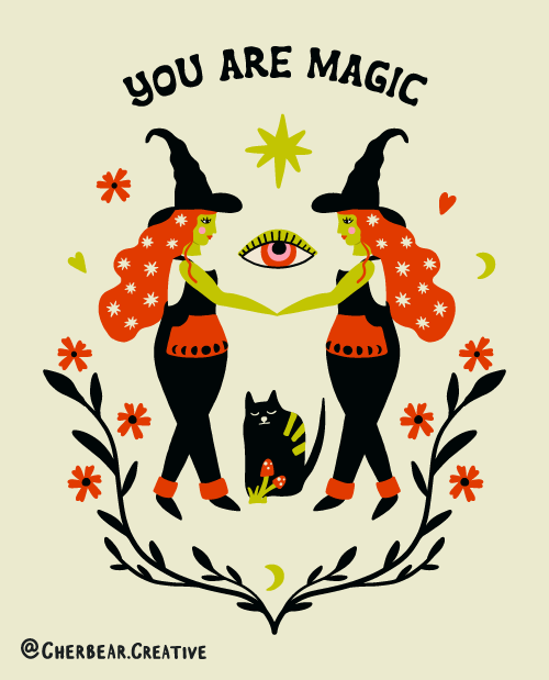 You Are Magic Art Print by Cherbear Creative Studio