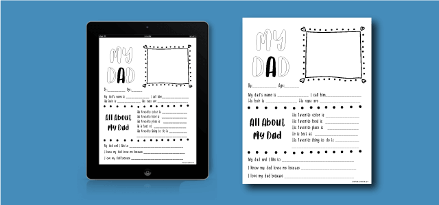 Free Printable Father's Day Quiz