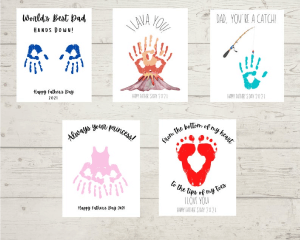 Father's Day Hand Print Crafts